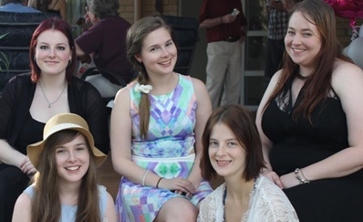 Left to right: Rebecca, Kaitlyn, Sarah, Amy, Alice